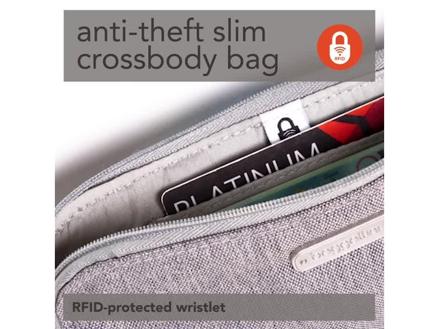 baggallini Anti Theft Slim Crossbody - image 8 from the video