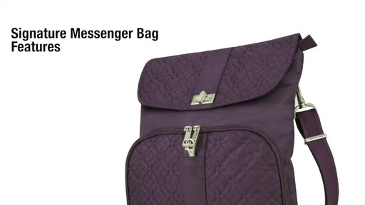 Travelon Anti-Theft Signature Messenger Bag - eBags.com - image 2 from the video