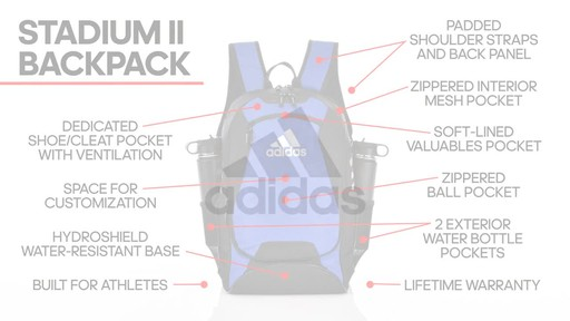 adidas Stadium II Backpack - image 10 from the video
