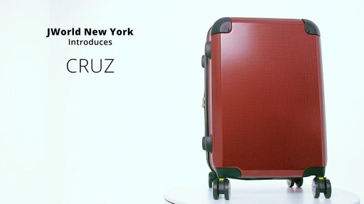 J World New York Cruz Hardside Spinner Luggage - on eBags.com - image 3 from the video