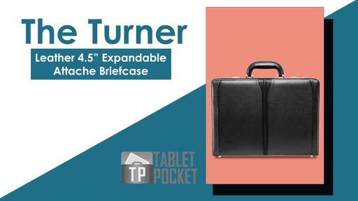 McKlein USA Turner Leather Expandable Attache Case - image 2 from the video