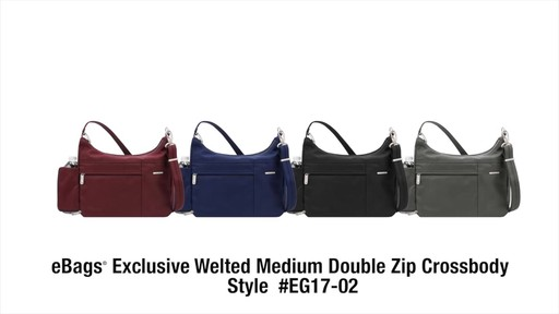 Travelon Anti-Theft Welted Medium Double Zip Crossbody - image 10 from the video