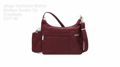Travelon Anti-Theft Welted Medium Double Zip Crossbody - image 2 from the video