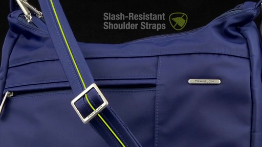 Travelon Anti-Theft Welted Medium Double Zip Crossbody - image 3 from the video