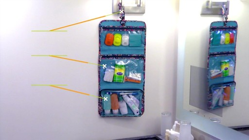 Travelon Boho Trifold Hanging Toiletry Kit - image 4 from the video