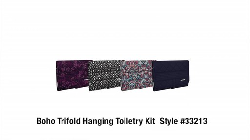 Travelon Boho Trifold Hanging Toiletry Kit - image 9 from the video