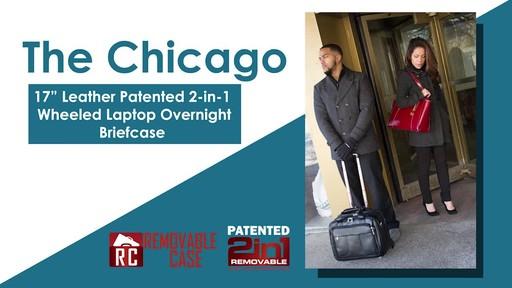 McKlein USA Chicago Leather Wheeled 15.6