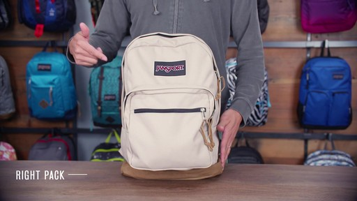 JanSport Right Pack Laptop Backpack - eBags.com - image 1 from the video