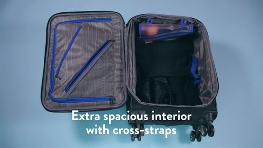 American Tourister Zoom Expandable Spinner Luggage - image 7 from the video
