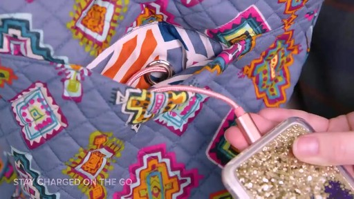 Vera Bradley Iconic Triple Zip Hipster - image 5 from the video