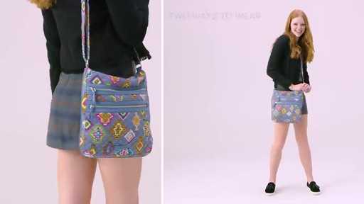Vera Bradley Iconic Triple Zip Hipster - image 8 from the video