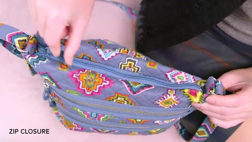 Vera Bradley Iconic Triple Zip Hipster - image 9 from the video