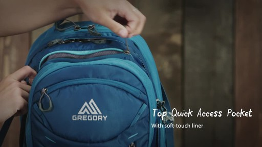 Gregory Womens Signal 32L Laptop Backpack - image 7 from the video