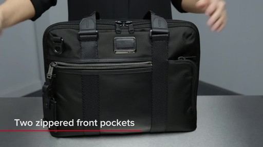 Tumi Alpha Bravo Charleston Compact Brief - image 6 from the video