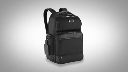 Briggs & Riley @work Large Cargo Laptop Backpack - image 1 from the video