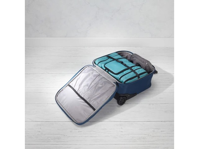 Travelon Anti-Theft Quilted Wheeled Underseat Bag with RFID - Exclusive - image 3 from the video