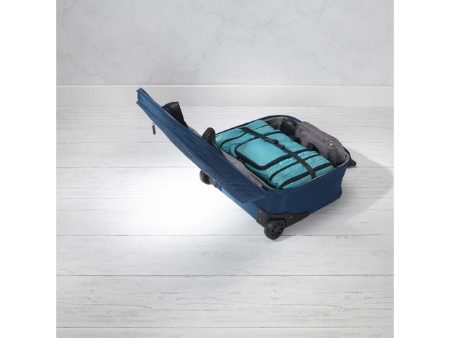 Travelon Anti-Theft Quilted Wheeled Underseat Bag with RFID - Exclusive - image 4 from the video