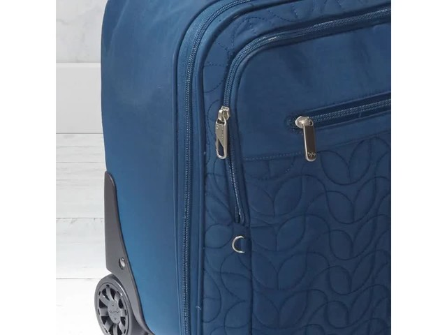 Travelon Anti-Theft Quilted Wheeled Underseat Bag with RFID - Exclusive - image 8 from the video