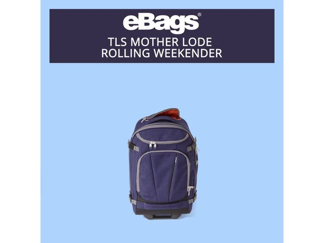 eBags TLS Mother Lode Rolling Weekender - image 3 from the video
