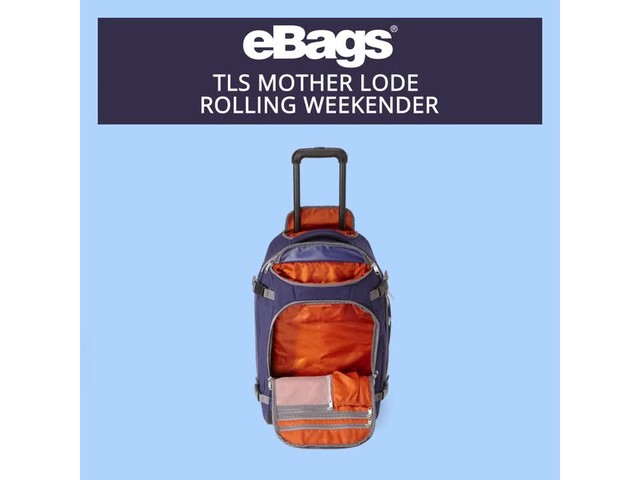 eBags TLS Mother Lode Rolling Weekender - image 4 from the video