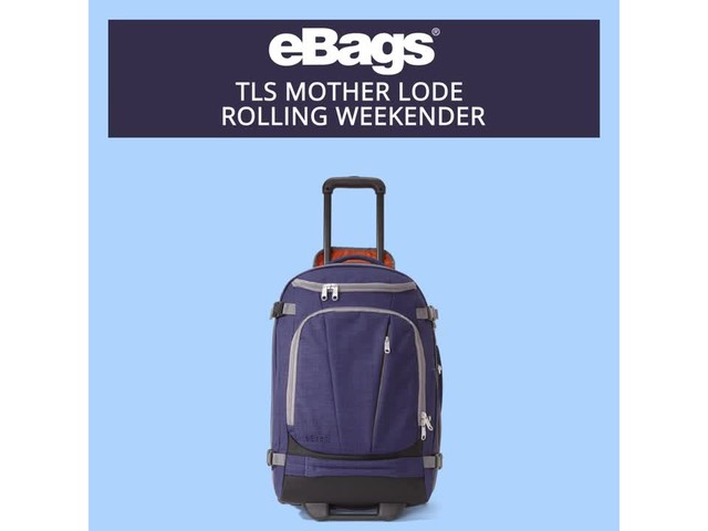 eBags TLS Mother Lode Rolling Weekender - image 6 from the video