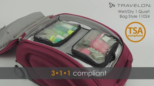 Travelon Wet/Dry 1 Quart Toiletry Kit - image 10 from the video