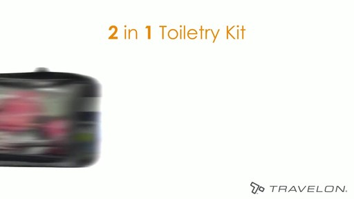 Travelon Wet/Dry 1 Quart Toiletry Kit - image 4 from the video
