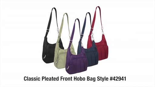 Travelon Anti-Theft Classic Pleated Hobo - eBags.com - image 10 from the video