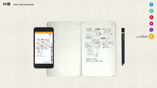 Moleskine Smart Writing Set - Paper Tablet, Pen  - on eBags.com - image 10 from the video