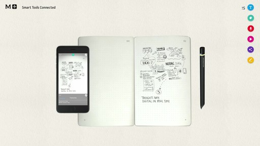 Moleskine Smart Writing Set - Paper Tablet, Pen  - on eBags.com - image 6 from the video