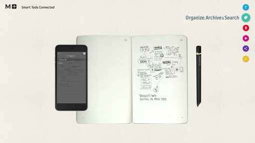 Moleskine Smart Writing Set - Paper Tablet, Pen  - on eBags.com - image 7 from the video