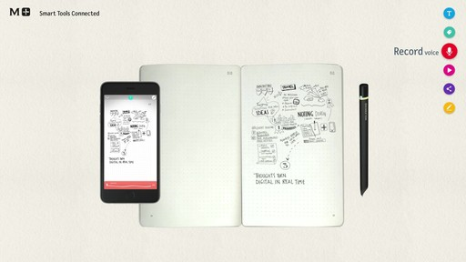 Moleskine Smart Writing Set - Paper Tablet, Pen  - on eBags.com - image 8 from the video