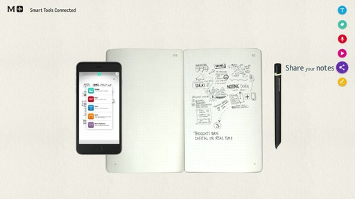 Moleskine Smart Writing Set - Paper Tablet, Pen  - on eBags.com - image 9 from the video