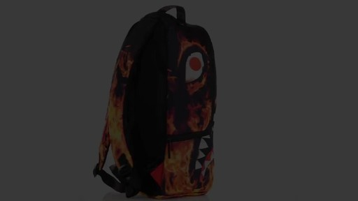 Sprayground Fire Shark Backpack - Shop eBags.com - image 3 from the video