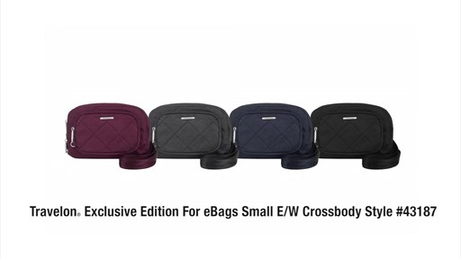 Travelon Anti-Theft Small Crossbody bag- on eBags.com - image 10 from the video