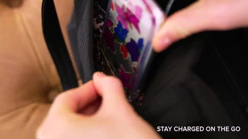 Vera Bradley Iconic Deluxe Vera Tote - image 6 from the video
