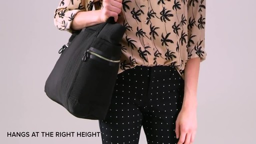 Vera Bradley Iconic Deluxe Vera Tote - image 8 from the video
