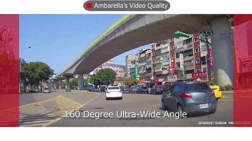 PAPAGO GoSafe 535 Ultra HD 1296P Super Wide Angle Dash Camera with 8GB Micro SD Card GS5358G - image 2 from the video
