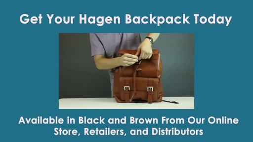 McKlein USA Hagen Leather Laptop Backpack - image 10 from the video