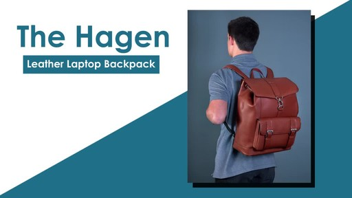 McKlein USA Hagen Leather Laptop Backpack - image 2 from the video