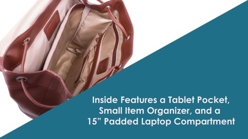 McKlein USA Hagen Leather Laptop Backpack - image 6 from the video