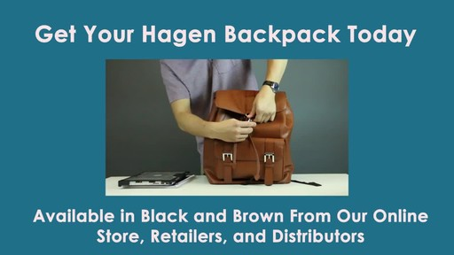 McKlein USA Hagen Leather Laptop Backpack - image 8 from the video
