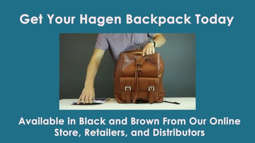 McKlein USA Hagen Leather Laptop Backpack - image 9 from the video