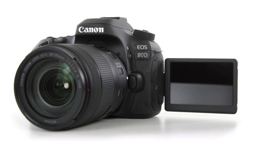 Canon EOS 80D 18-135 IS USM DSLR Camera Kit - image 6 from the video