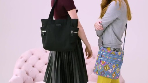 Vera Bradley Iconic Deluxe Small Vera Tote - image 1 from the video