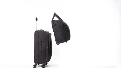 Delsey Quilted Expandable Spinner Exclusive Luggage - image 10 from the video