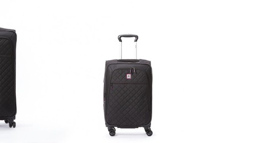 Delsey Quilted Expandable Spinner Exclusive Luggage - image 2 from the video