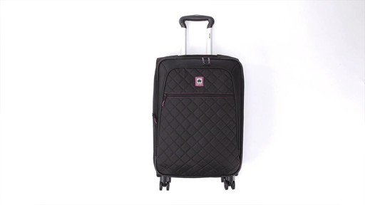 Delsey Quilted Expandable Spinner Exclusive Luggage - image 3 from the video