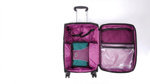 Delsey Quilted Expandable Spinner Exclusive Luggage - image 5 from the video