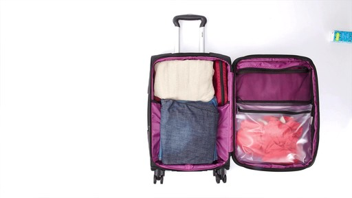 Delsey Quilted Expandable Spinner Exclusive Luggage - image 7 from the video